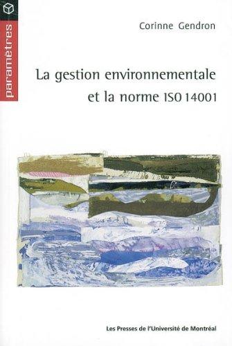 Gestion environnementale et iso 14001