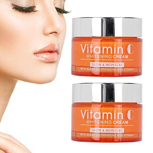 Crème éclaircissante pour la peau, crème à la vitamine C, crème éclaircissante pour le corps du visage taches sombres taches d'âge Anti-âge Anti-rides hydratant 50g