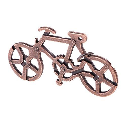 SM SunniMix Metall Brain Teaser Bike Puzzle Klassisches Chinesisches Wire Trick Spielzeug, Geburtstagsgeschenk Gefälligkeiten für Kinder Jungen & Mädchen