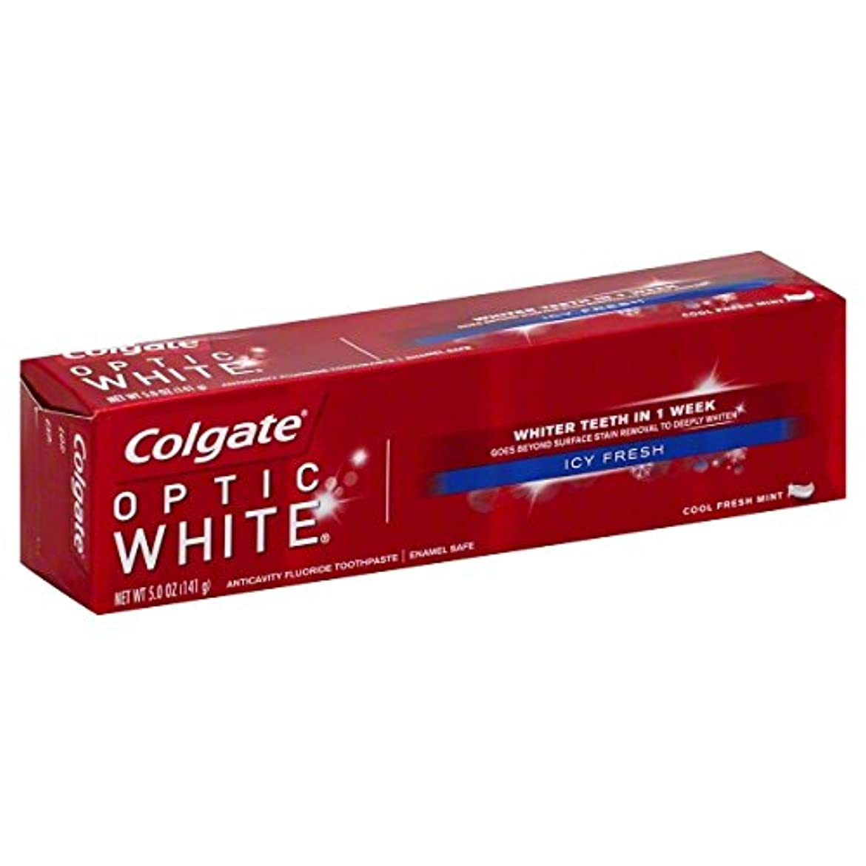固体味放送Colgate オプティックホワイトハミガキ、アイシー新鮮な、5オンス(6パック)