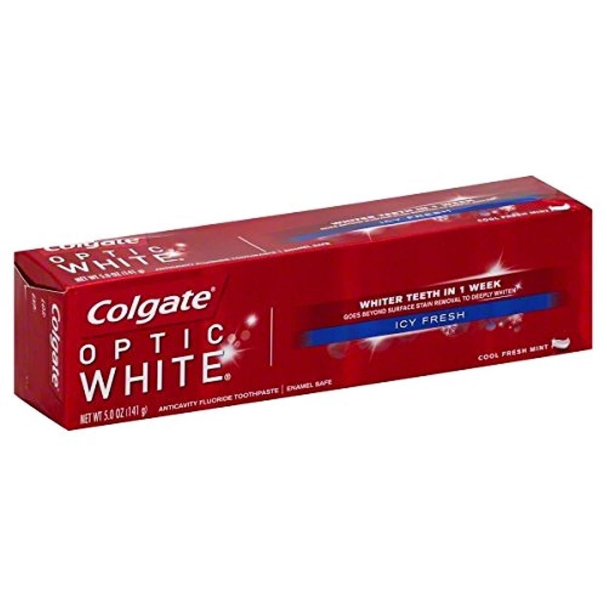 暴露是正神秘的なColgate オプティックホワイトハミガキ、アイシー新鮮な、5オンス(6パック)