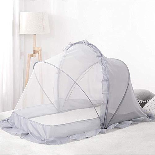TBBE Cuna mosquitero a prueba de polvo tienda plegable portátil cubierta de cuna sin fondo toldo adecuado para dormitorio y viajes al aire libre