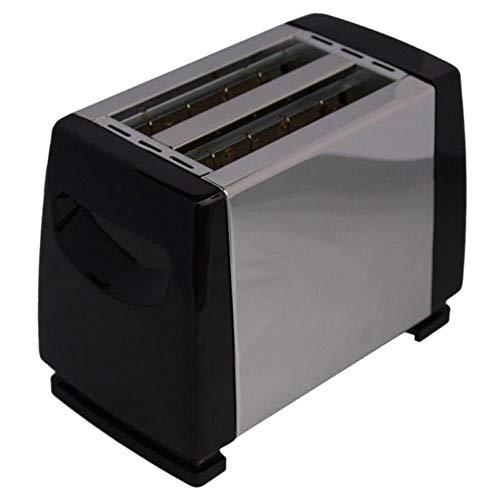 LinZX Automático 2 rebanadas pequeña sandwichera tostadora máquina 750W Soporte de Revestimiento en Acero Inoxidable para la casa,Black