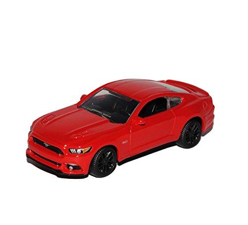 Ford Mustang VI Coupe Rot Ab 2014 1/64 Maisto Modell Auto mit individiuellem Wunschkennzeichen