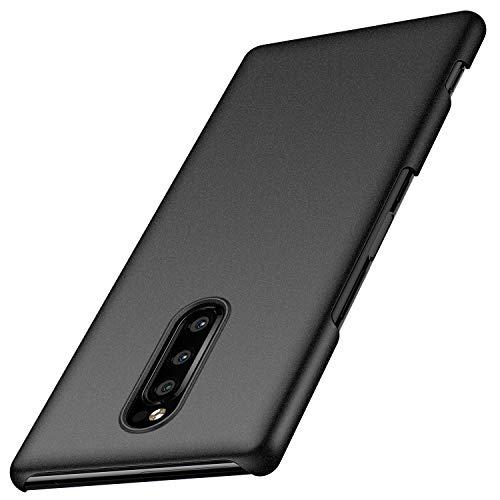 Sony Xperia 1 Hülle, Anccer [Serie Matte] Elastische Schockabsorption und Ultra Thin Design für Sony Xperia 1 (Kies Schwarz)