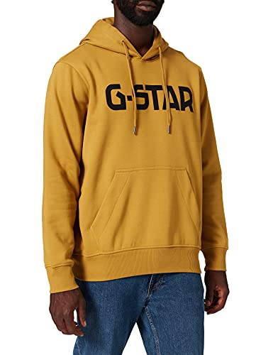 G-STAR RAW Hooded Sudadera con Capucha, Verde Toasted A971-c623, XL para Hombre