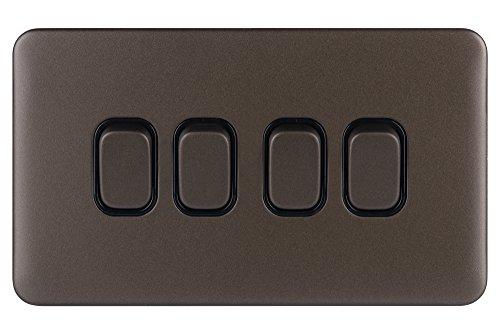 Schneider Electric Lisse - Decorazione senza viti, marrone, GGBL1042BMBS, 240V
