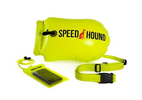 Speed Hound Triathlete's #1 Choice Swim Buoy (Highlighter Yellow, X-Large 28L)
