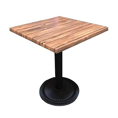 MATHI DESIGN Oakland - Table carrée Bistro Marron