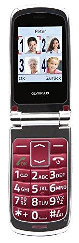 OLYMPIA 2165 Komfort-Mobiltelefon mit Großtasten/großem Farb-LC-Display Modell Style rot