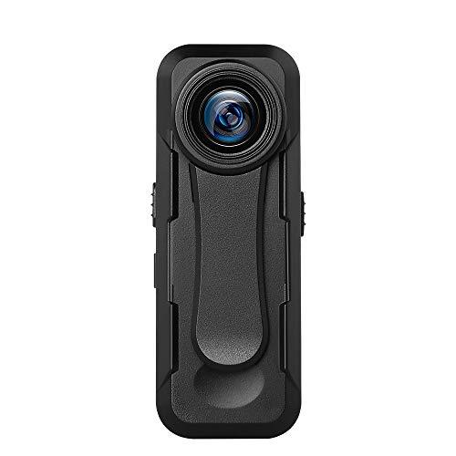 BOBLOV Videocámaras 1080P+, Micro Cámara Corporal Portátil con Sensor Óptico Sony IMX307 Grabación en Bucle Admite Tarjeta TF de 32GB para Enseñanza, Recorrido, Conferencia y Entrevista