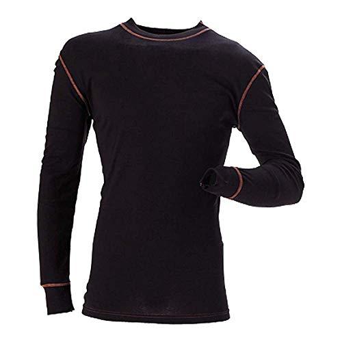 J.A.K. 6001126 Serie 6001 90% Coolmax Active/10% Lycra Coolmax Active - Camiseta interior funcional (talla 3XL), color negro
