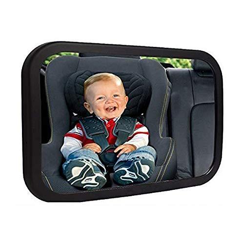 Espejo de Coche para Bebé para Asiento Trasero, Espejo Retrovisor para Asiento de Coche para Bebé Niños, Rotación de 360°