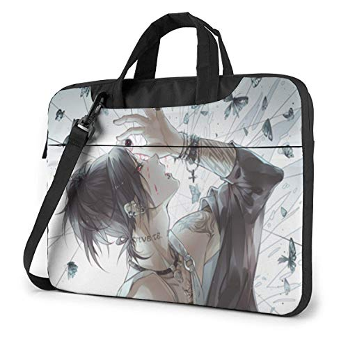 15.6 inch Laptop Shoulder Briefcase Messenger Tokyo Ghoul Tablet Bussiness Carrying Handbag Case Sleeve