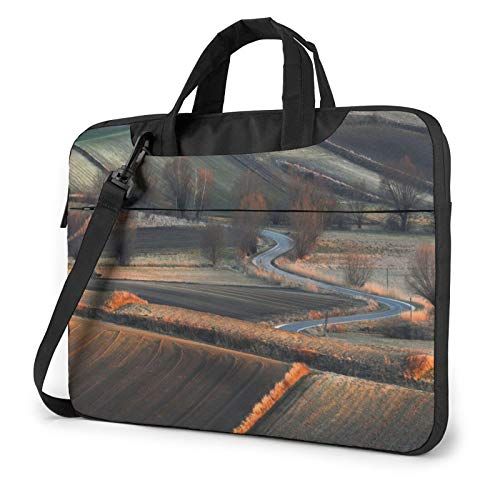 Laptop Sleeve Bag Field Farm Tractors Trees Landscape Outdoors Tablet Briefcase Ultraportable Protective Canvas for 15.6 inch MacBook Pro/MacBook Air/Notebook Computer