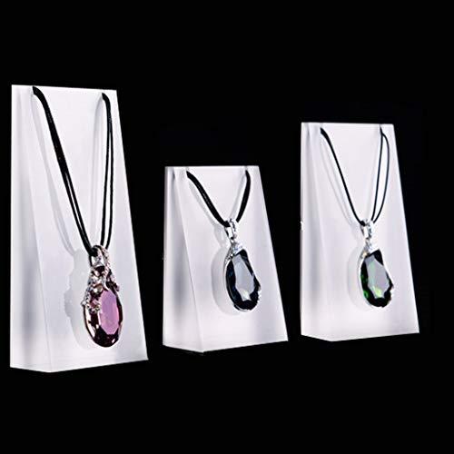 Lowral - Juego de 3 expositores para joyas, organizador para colgar estantes y cadenas