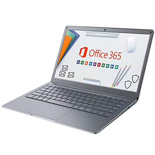 Jumper Notebook Portatile Microsoft 365, Portatili FHD da 13,3 pollice Windows 10 (4GB, 64GB, Memoria Espandibile SSD da 1 TB e TF da 256 GB, WiFi Dual Band, Bluetooth 4.2, Intel Celeron CPU)
