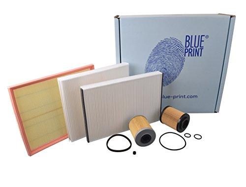 Blue Print ADW192107 Wartungspaket , Inspektionspaket , Filter Set (1x Ölfilter, 1x Luftfilter, 1x Innenraumfilter, 1x Kraftstofffilter)