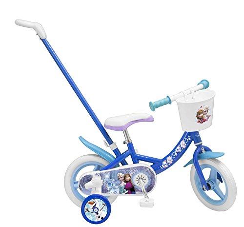 Toimsa- Disney Princess Frozen Vélo pour Enfant avec Canne directionnelle sous Licence la reinde des neiges 10\