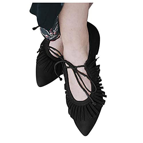 Women'S Fashion Sneakers Flat-Heeled Leather Hollow Comfortable Large Size Non-Slip Women'S Single Shoes Casual Shoes 37-42