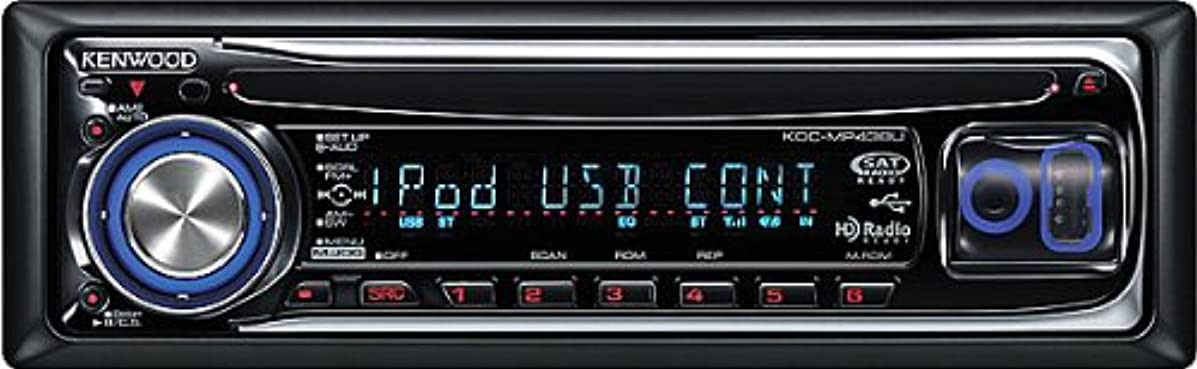 Kenwood KDC-MP438U USB/AAC/WMA/MP3 CD Receiver with Front USB/AUX Inputs