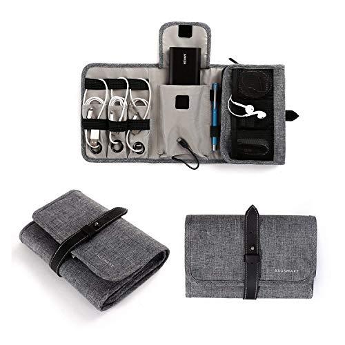 bagsmart Tragbare Kabeltasche für Kabel, Powerbank, USB Sticks Grau