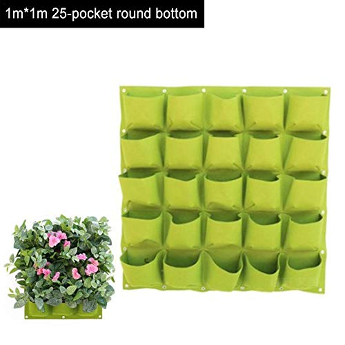 Sanmubo Trading Jardinière Verticale avec 25 Poches Flowerpot Bag Wall Hanging Plant Grow Bags for Garden Flower Vegetable Home Decoration