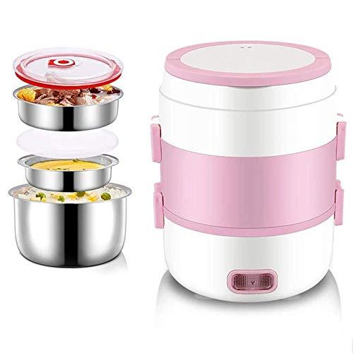 Multifunctionele elektrische lunchbox mini elektrische rijstkoker elektrische stomer draagbare lunchbox steamer 1.5L mini kleine elektrische lunchbox,Pink