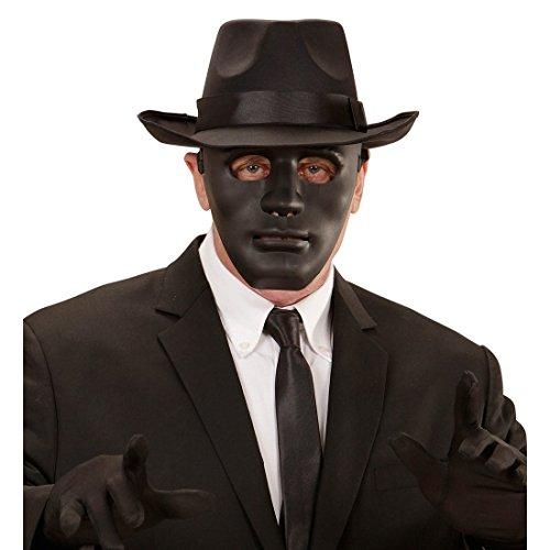 NET TOYS Schwarze Anonymous Maske Vendetta Venezianische Maskerade Phantommaske Gesichtsmaske Theatermaske Geist Anonymousmaske Theater Phantom Geistermaske Halloween