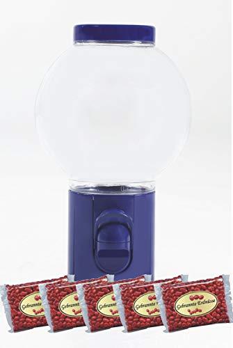 SONESTA Spender Erdnusspender Bonbonspender Erdüsse Erdnusskerne Nussautomat gebrannte Erdnusskerne dragiert Der Klassiker aus dem Automat für zu Haus (Blau + 2000gr Nüsse)