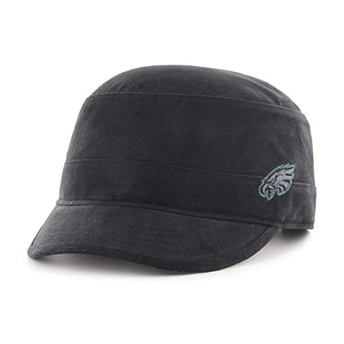 OTS NFL Philadelphia Eagles Women's Shipmate Cadet Military-Style Adjustable Hat, Black, Women's