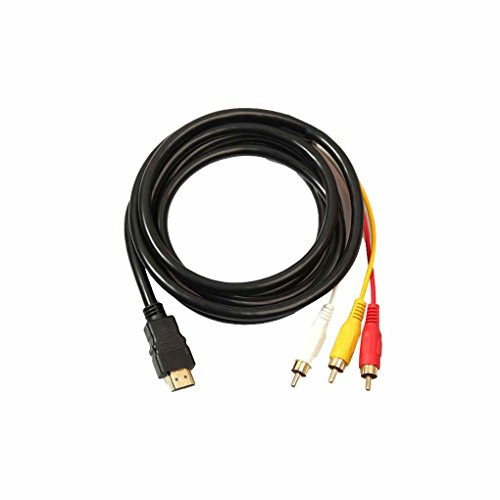 teng hong hui 5 pies HDMI a 3 RCA Macho Cable convertidor de vídeo o convertidor del Adaptador de AV por componentes Cable de línea o línea