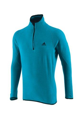 adidas Herren Fleece Jacke ASE CW Microfleece 1/2 Zip, vivid teal, S, AS66J2
