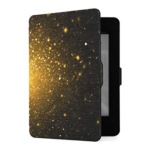 Funda para Kindle Paperwhite 1 2 3, Resumen Dorado con Deste