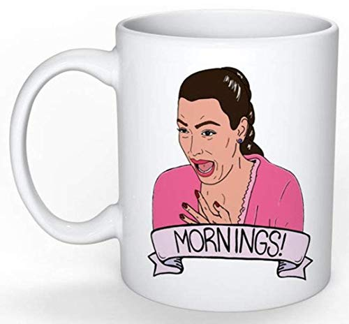 Kim Kardashian's Ugly Crying Face To Start Your Morning Coffee Mug - 15Oz White Gift For Friend Lover Daughter Son Siblings In Birthday Christmas