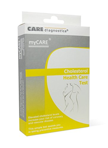 Cholesterol Test Kit Home Cholesterol Test Finger Prick Blood Self Testing For Cholesterol Levels. (For one use only)