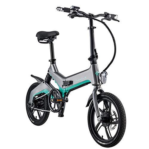 SHIJING Elektrische fiets, 16 inch, aluminiumlegering, lithium-batterij-elektrische scooter, Adult aandrijving, elektrische vouwfiets, 16 inch