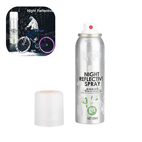 Farbspray,Night Reflective Spray Paint Reflektierende Sicherheitsmarkierung Anti Accident Sicherheits Spray,für Bike (Silver)