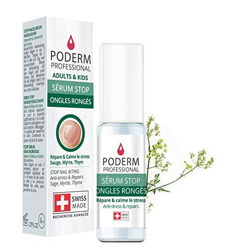 PODERM - STOP NÄGELKAUEN - Alternative zu Bitterlack - Pflege-Serum Anti-Stress 100% natürlich - Aktiviert das Wachstum - Erwachsene/Kinder - Swiss Made