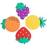 zxb-shop Posavasos Coaster Lindo y Creativo Mantel Individual Impermeable Nórdico Colador de Frutas de Silicona Inicio Alta Temperatura Ins Wind Disk Pad Portavasos