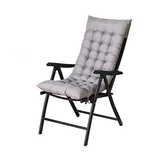 Awayhall Cojines para mecedoras, Algodón Perlado Espesado Cojín reclinable Antideslizante, Cojín para Silla Plegable de Oficina en casa, Cojín para Ventana salediza, Cojín para sofá 48x120 cm
