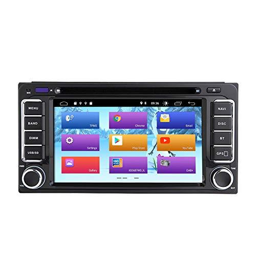 Lettore DVD per auto Android 10 per Toyota Land Cruiser 100 200 Prado 120 150 Rush Corolla Hiace Yaris Hilux Stereo Auto Navigazione GPS Lettore multimediale Doppia testa unità Din con IPS DSP