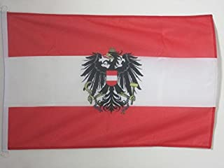 AZ FLAG Austria with Eagle Nautical Flag 18'' x 12'' - Austrian Coat of arms Flags 30 x 45 cm - Banner 12x18 in for Boat