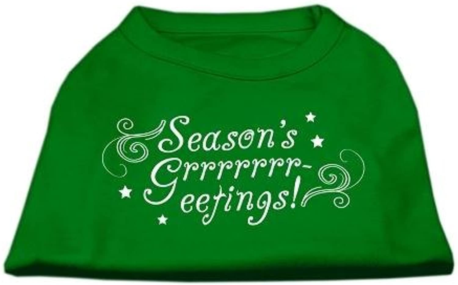 Mirage Pet Products 20Inch Seasons Greetings Screen Print Shirts for Pets, 3XLarge, Emerald Green