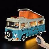 WWEI Juego de iluminación LED con mando a distancia para 10279 Volkswagen T2 Campingbus Bausteinen, LED compatible con LEGO, sin LEGO Set
