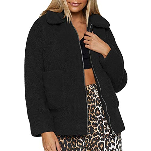 Fantastic Prices! NANTE Top Women's Coat Faux Fur Outwear Jacket Solid Zipper Turn Down Collar Outer...