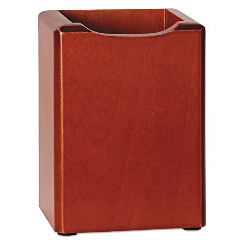 Rolodex - Wood Pencil Cup, Mahogany, Sold as 1 Each, ROL23380