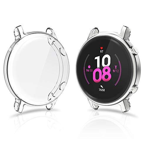 CAVN Hülle Kompatibel mit Huawei Watch GT 2 42mm Schutzhülle Schutzfolie [2-Stück], (Passt Nicht GT /GT2 46mm) Flexibles TPU Vollschutz Bildschirmschutzfolie Kratzfest Bildschirmschutz Schutz Hülle Gehäuse