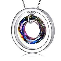 Kreis Anhänger Halskette Schmuck aus Kristall