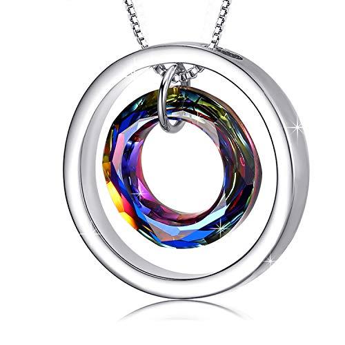 Collar Mujer Collar de Cristal de Círculo